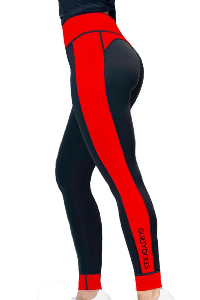 Guilty Dolls London   Activewear   High Waisted Black Leggings